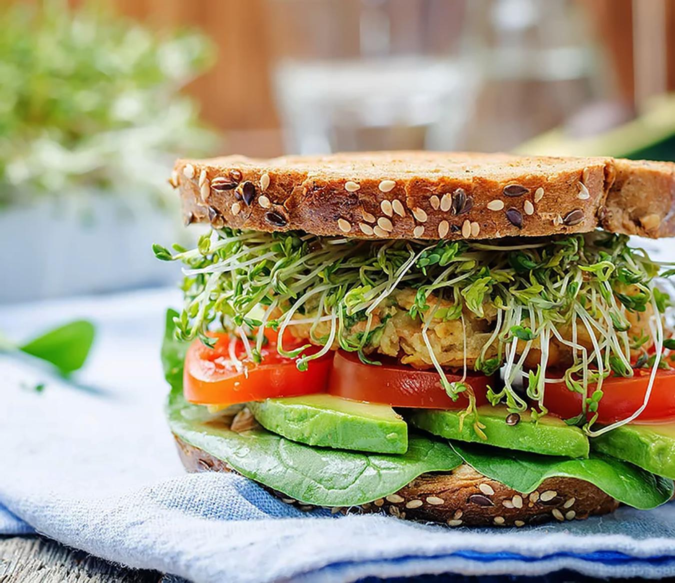 Microgreens on a Fabulous Sandwich