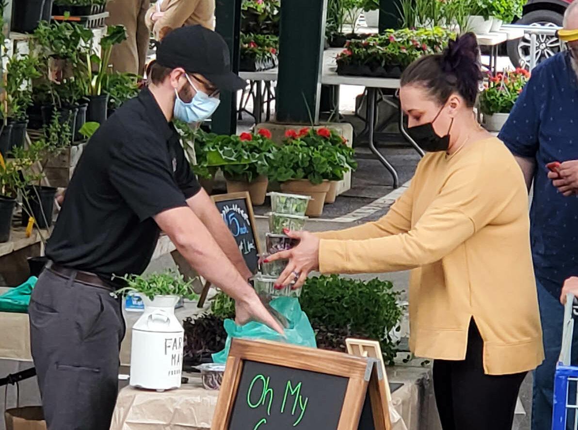 Matt Hammack, Founder of Oh My Greens, Selling at Capitol Market
